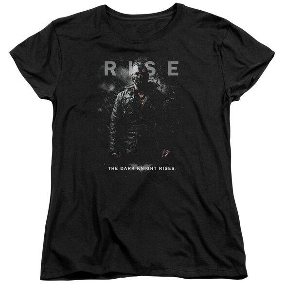 Dark Knight Rises Bane Rise Short Sleeve Womens Tee Black T-Shirt