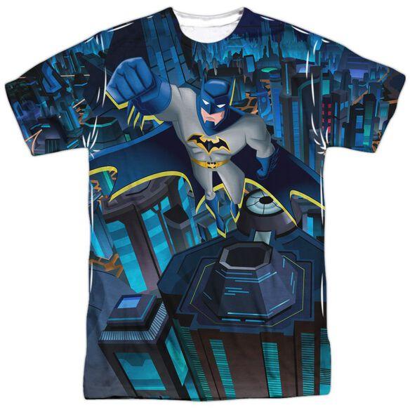 Batman Unlimited Cityscape Short Sleeve Adult Poly Crew T-Shirt
