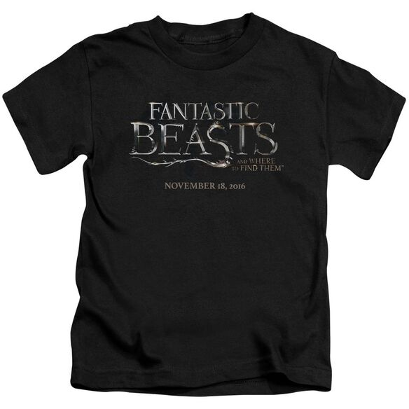 Fantastic Beasts Logo Short Sleeve Juvenile Black T-Shirt