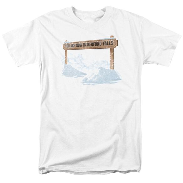 Its A Wonderful Life Bedford Falls Short Sleeve Adult White T-Shirt