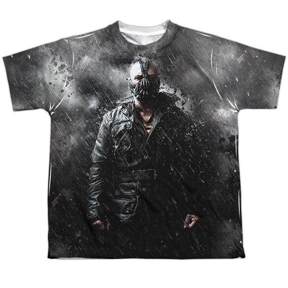 Dark Knight Rises Bane In Rain Short Sleeve Youth Poly Crew T-Shirt