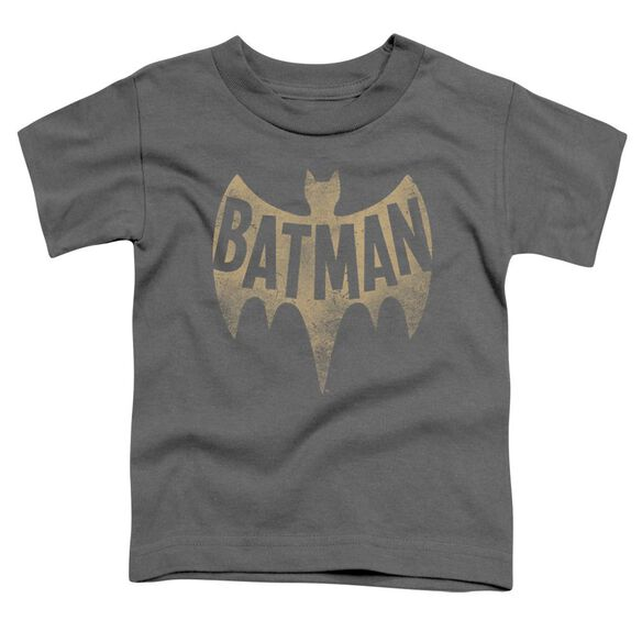 Batman Classic Tv Vintage Logo Short Sleeve Toddler Tee Charcoal T-Shirt