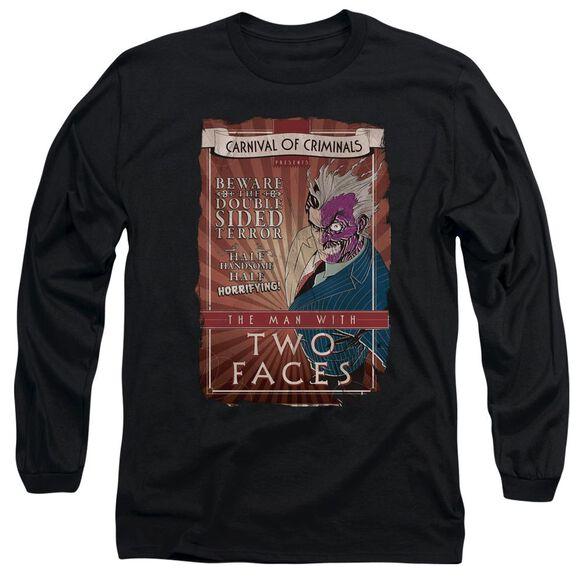 BATMAN TWO FACES - L/S ADULT 18/1 - BLACK T-Shirt