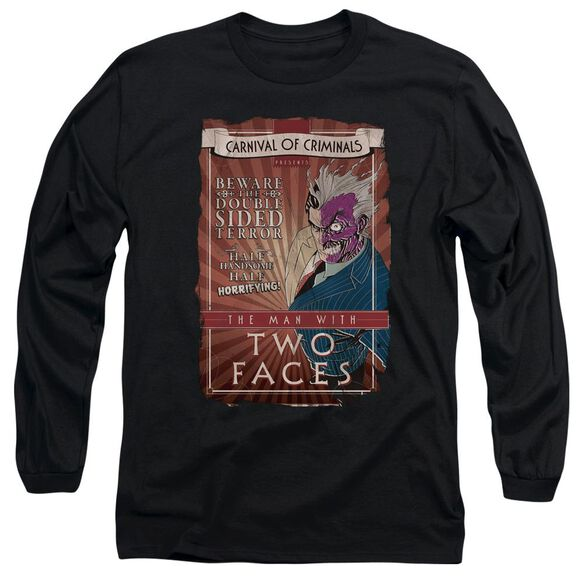 Batman Two Faces Long Sleeve Adult T-Shirt
