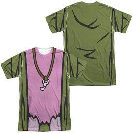 Fraggle Rock Mokey Uniform (Front Back Print) Short Sleeve Adult Poly Crew T-Shirt