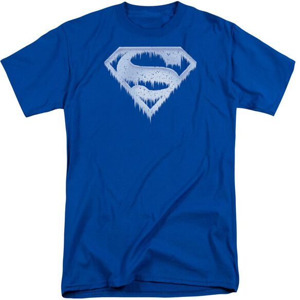 Superman Ice And Snow Shield Short Sleeve Adult Tall Royal T-Shirt