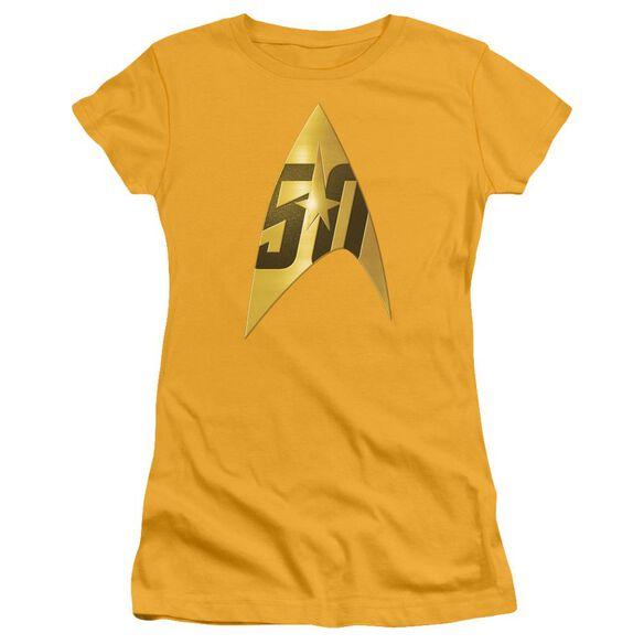 Star Trek 50 Th Anniversary Delta Short Sleeve Junior Sheer T-Shirt
