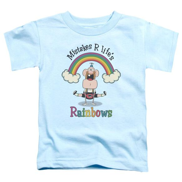 Uncle Grandpa Life's Rainbows Short Sleeve Toddler Tee Light Blue T-Shirt