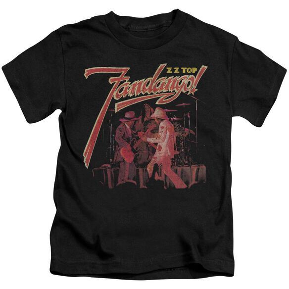 Zz Top Fandango Short Sleeve Juvenile Black T-Shirt