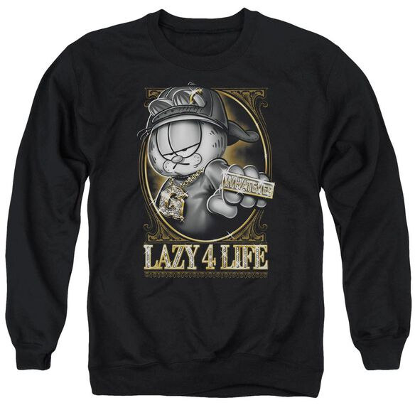 Garfield Lazy 4 Life Adult Crewneck Sweatshirt