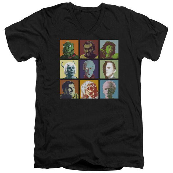 Star Trek Alien Squares Short Sleeve Adult V Neck T-Shirt