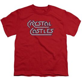 Atari Crystal Castles Logo Short Sleeve Youth T-Shirt