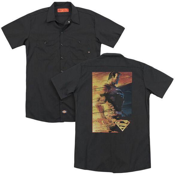 Superman Fireproof (Back Print) Adult Work Shirt