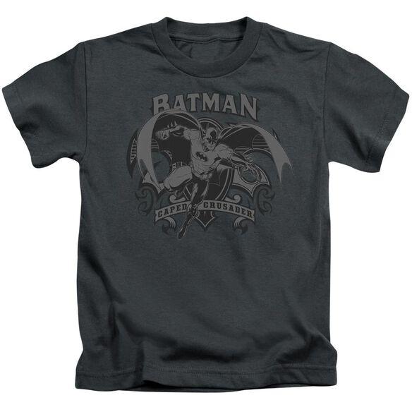 Batman Crusade Short Sleeve Juvenile Charcoal T-Shirt
