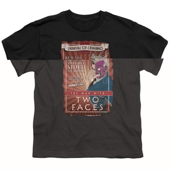 BATMAN TWO FACES - S/S YOUTH 18/1 - BLACK T-Shirt