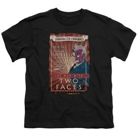Batman Two Faces Short Sleeve Youth T-Shirt