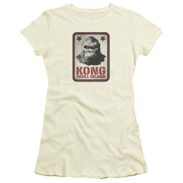 Kong Skull Island Kong Sign Hbo Short Sleeve Junior Sheer T-Shirt