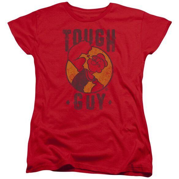 Popeye Tough Guy Short Sleeve Womens Tee T-Shirt
