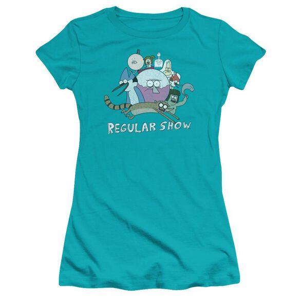 Regular Show Surrounding Benson Hbo Short Sleeve Junior Sheer T-Shirt