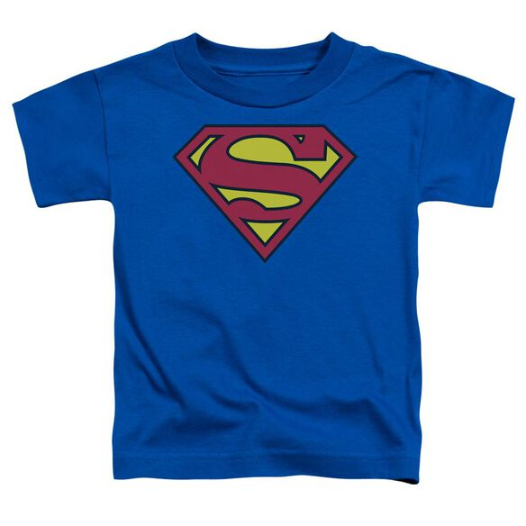 Superman Classic Logo Short Sleeve Toddler Tee Royal Lg T-Shirt