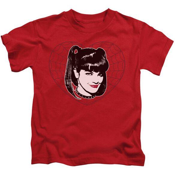 Ncis Abby Heart Short Sleeve Juvenile Red T-Shirt