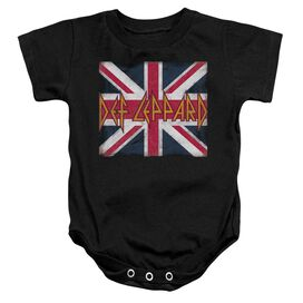 Def Leppard Union Jack Infant Snapsuit Black