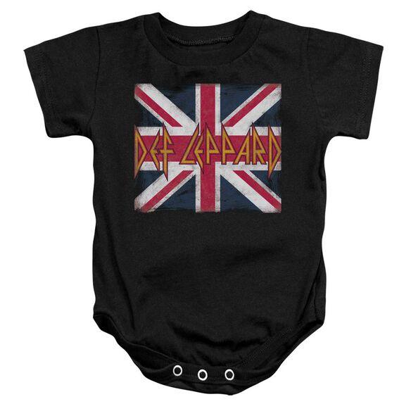 Def Leppard Union Jack Infant Snapsuit Black