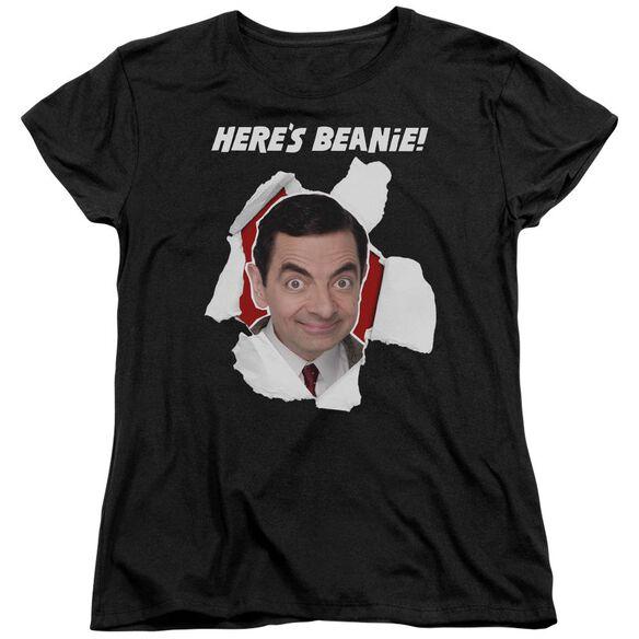Mr Bean Heres Beanie Short Sleeve Womens Tee T-Shirt