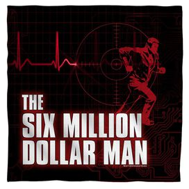 Six Million Dollar Man Logo Bandana White