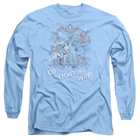 Jla Go Fight Win Long Sleeve Adult Carolina T-Shirt
