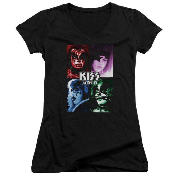 Kiss Alive Ii Cover Junior V Neck T-Shirt
