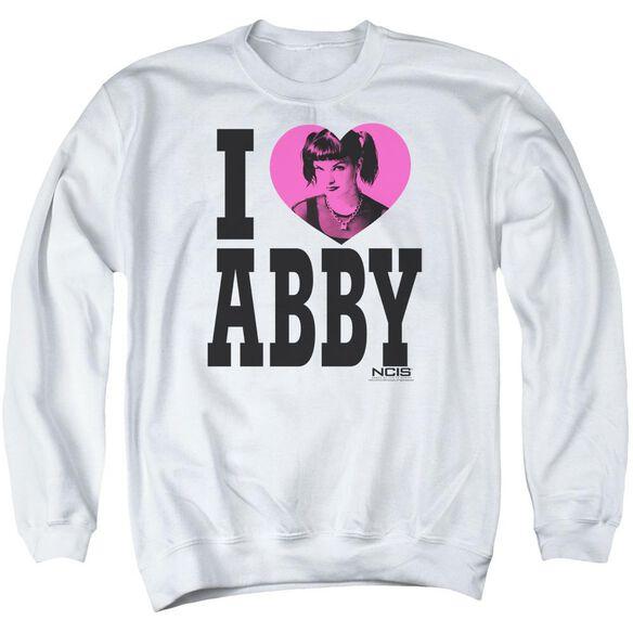 Ncis I Heart Abby Adult Crewneck Sweatshirt