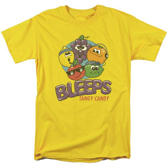 Dubble Bubble Bleeps Short Sleeve Adult Yellow T-Shirt