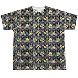 Rubiks Cube Black And Short Sleeve Youth Poly Crew T-Shirt