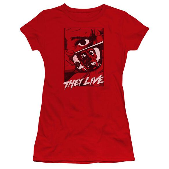 They Live Graphic Poster Premium Bella Junior Sheer Jersey