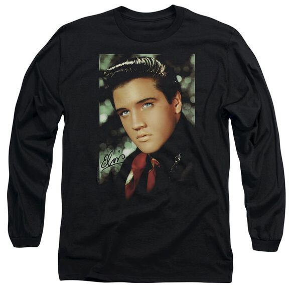 Elvis Presley Red Scarf Long Sleeve Adult T-Shirt