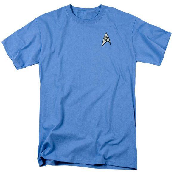 Star Trek Science Uniform Short Sleeve Adult Carolina Blue T-Shirt