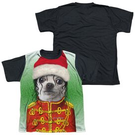 Pets Rock Christmas Pop Short Sleeve Youth Front Black Back T-Shirt