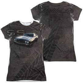 Chevrolet Muscle Chevelle Ss (Front Back Print) Short Sleeve Junior Poly Crew T-Shirt