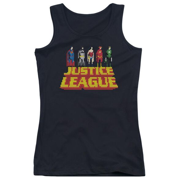 Jla Standing Above Juniors Tank Top