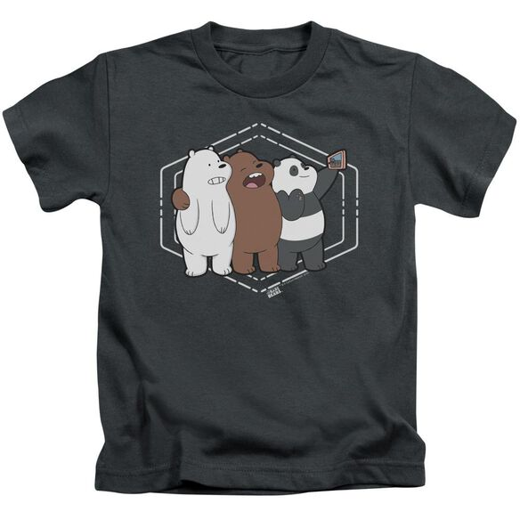 We Bare Bears Selfie Short Sleeve Juvenile T-Shirt