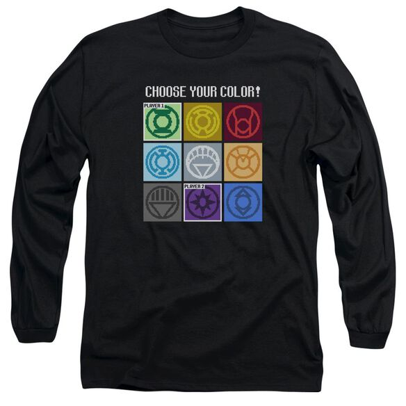Dc Choose Your Color Long Sleeve Adult T-Shirt