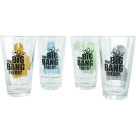 Big Bang Theory Bazinga Characters Pint Glass Set