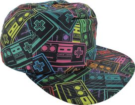Nintendo Multi-Colored Controllers Snapback Hat