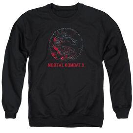 Mortal Kombat X Bloody Seal - Adult Crewneck Sweatshirt - Black