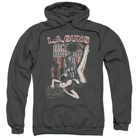 La Guns From Hollywood Adult Pull Over Hoodie