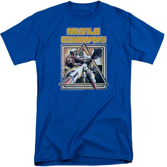Atari Missle Commander Short Sleeve Adult Tall Royal T-Shirt