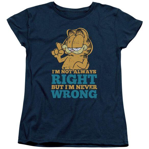 Garfield Never Wrong Short Sleeve Womens Tee T-Shirt