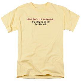 Men Like Popcorn Short Sleeve Adult Banana T-Shirt