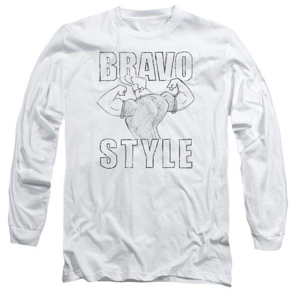 Johnny Bravo Bravo Style Long Sleeve Adult T-Shirt